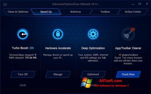Ekran görüntüsü Advanced SystemCare Ultimate Windows 7
