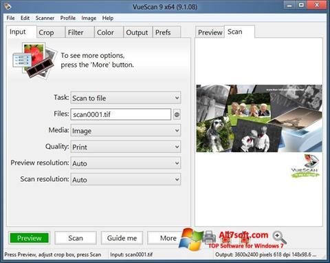 Ekran görüntüsü VueScan Windows 7