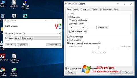 Ekran görüntüsü VNC Windows 7