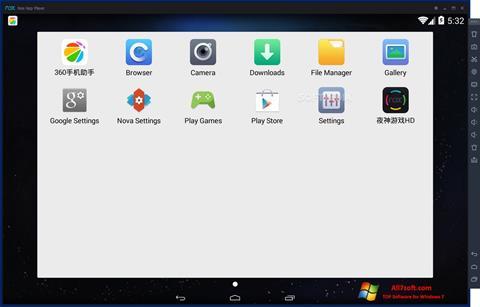 Ekran görüntüsü Nox App Player Windows 7