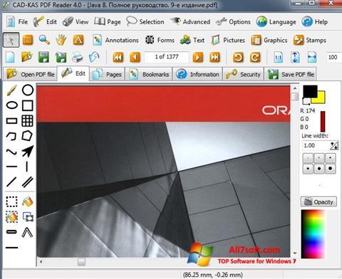 Ekran görüntüsü PDF Reader Windows 7