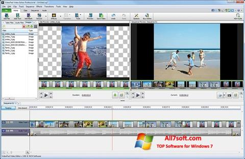 Ekran görüntüsü VideoPad Video Editor Windows 7