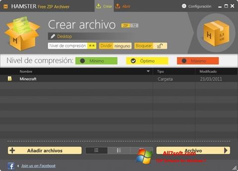 Ekran görüntüsü Hamster Free ZIP Archiver Windows 7