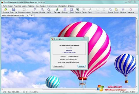 Ekran görüntüsü FastStone Capture Windows 7