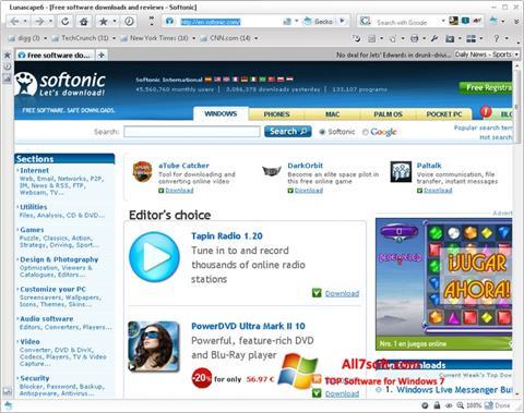 Ekran görüntüsü Lunascape Windows 7