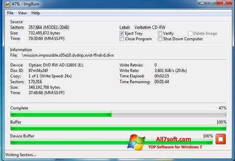 Ekran görüntüsü ImgBurn Windows 7