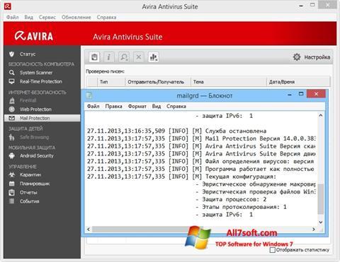 Ekran görüntüsü Avira Windows 7
