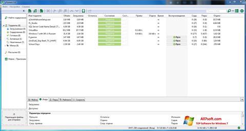 Ekran görüntüsü uTorrent Windows 7
