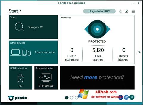 Ekran görüntüsü Panda Windows 7