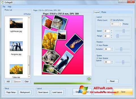 Ekran görüntüsü CollageIt Windows 7