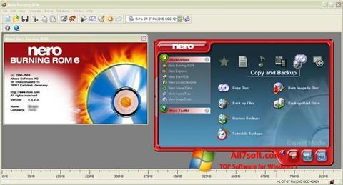 Ekran görüntüsü Nero Burning ROM Windows 7