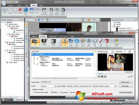 Ekran görüntüsü Free Video Editor Windows 7