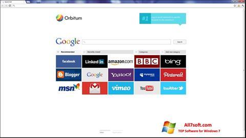 Ekran görüntüsü Orbitum Windows 7