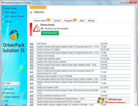Ekran görüntüsü DriverPack Solution Windows 7