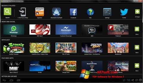 Ekran görüntüsü BlueStacks Windows 7