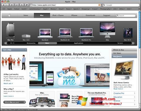 Ekran görüntüsü Safari Windows 7