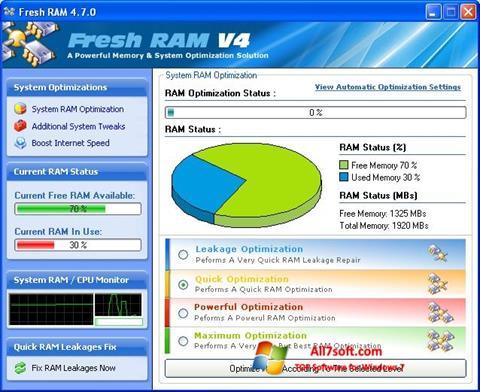 Ekran görüntüsü Fresh RAM Windows 7