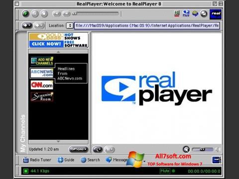Ekran görüntüsü RealPlayer Windows 7