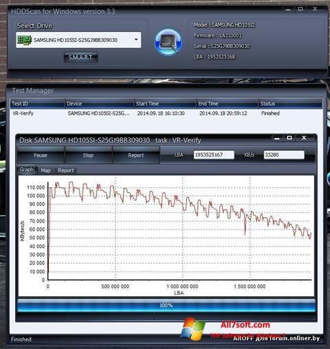 Ekran görüntüsü HDDScan Windows 7