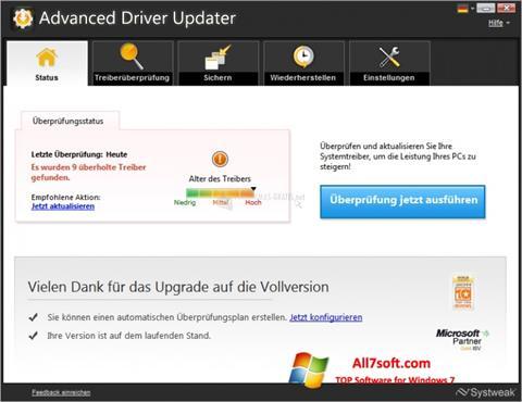 Ekran görüntüsü Advanced Driver Updater Windows 7