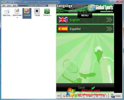 Ekran görüntüsü YouWave Windows 7