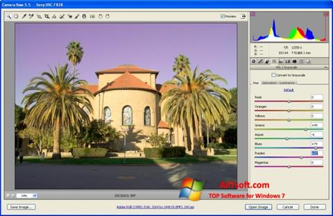 Ekran görüntüsü Adobe Camera Raw Windows 7