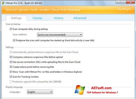 Ekran görüntüsü HitmanPro Windows 7