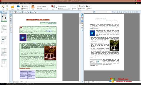 Ekran görüntüsü ABBYY FineReader Windows 7