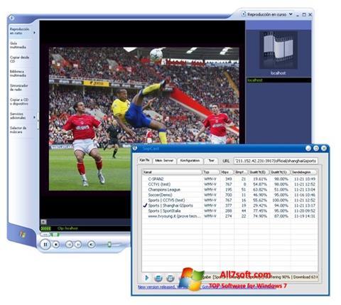 Ekran görüntüsü SopCast Windows 7