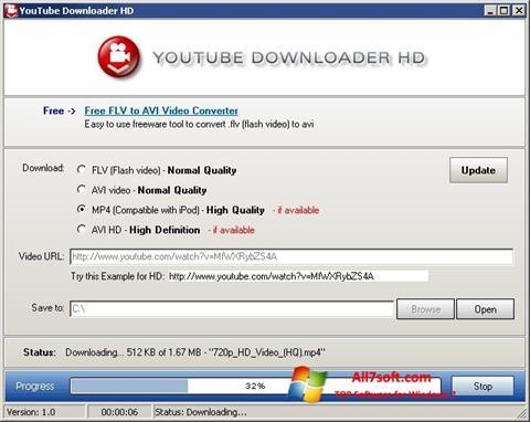 Ekran görüntüsü Youtube Downloader HD Windows 7