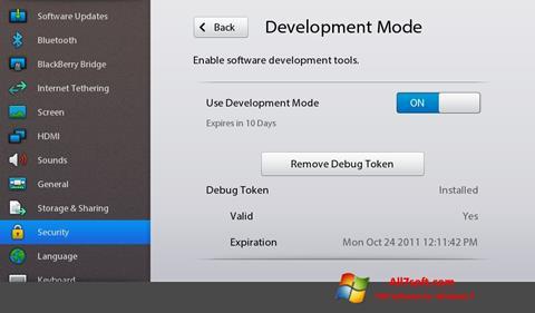 Ekran görüntüsü Adobe AIR Windows 7