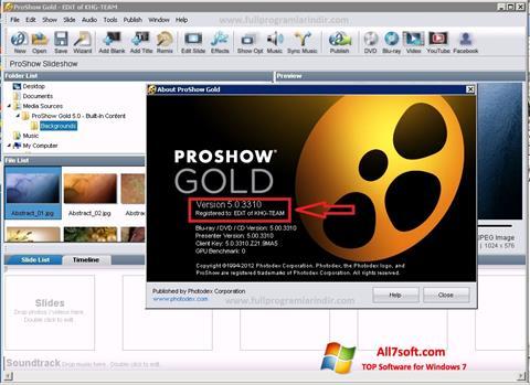 Ekran görüntüsü ProShow Gold Windows 7