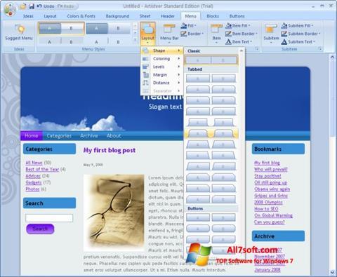 Ekran görüntüsü Artisteer Windows 7