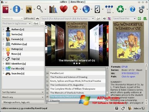 Ekran görüntüsü Calibre Windows 7