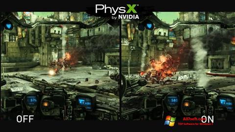 Ekran görüntüsü NVIDIA PhysX Windows 7