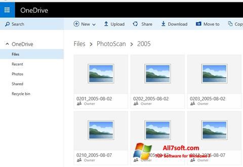 Ekran görüntüsü OneDrive Windows 7