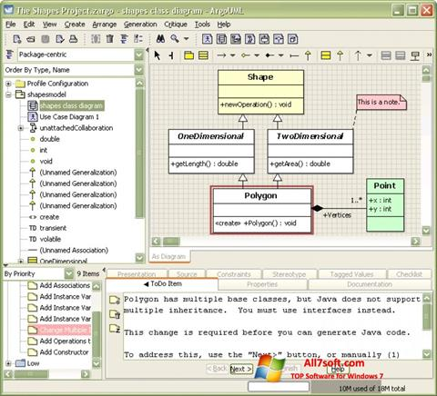 Ekran görüntüsü ArgoUML Windows 7