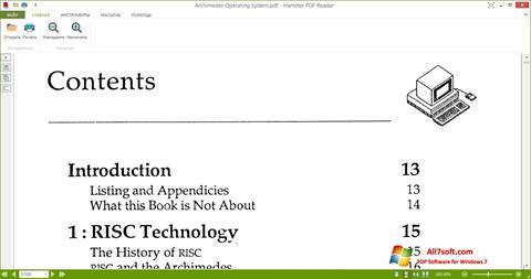Ekran görüntüsü Hamster PDF Reader Windows 7