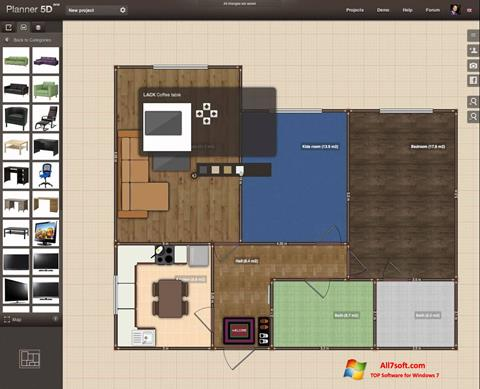 Ekran görüntüsü Planner 5D Windows 7
