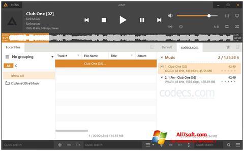 Ekran görüntüsü AIMP Windows 7