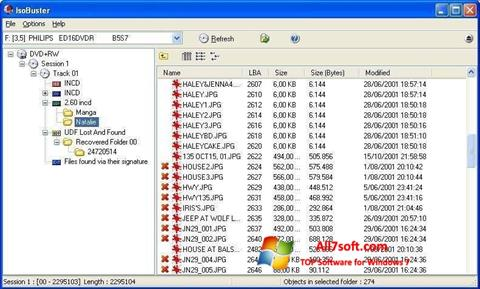 Ekran görüntüsü IsoBuster Windows 7