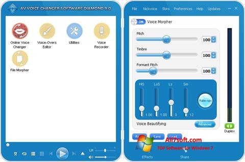 Ekran görüntüsü AV Voice Changer Diamond Windows 7