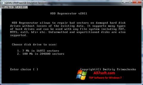 Ekran görüntüsü HDD Regenerator Windows 7