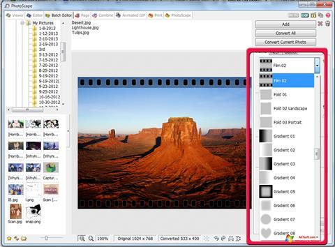 Ekran görüntüsü PhotoScape Windows 7