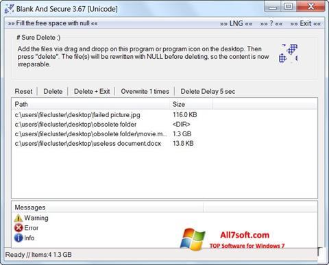 Ekran görüntüsü Blank And Secure Windows 7